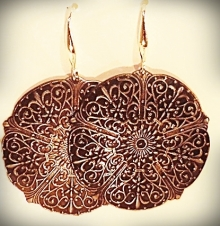 Sterling embossed earrings