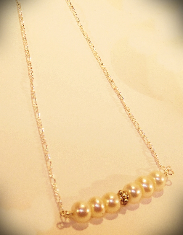 Pearls and silver necklace