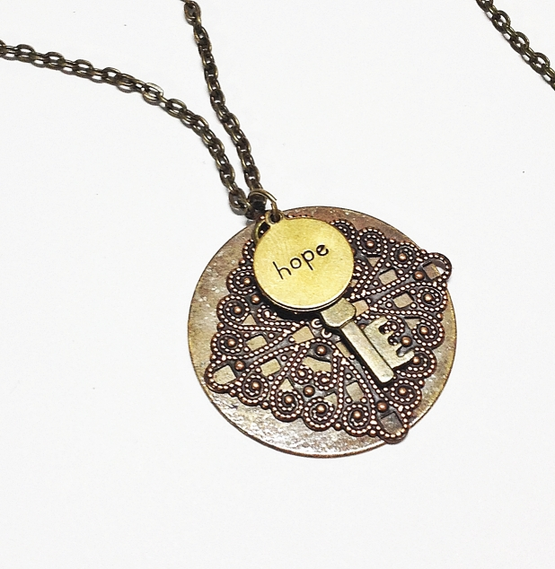 Affirmation pendant necklace