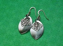 Silver scales earrings