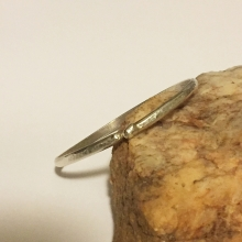 Heavy gauge sterling silver bangle